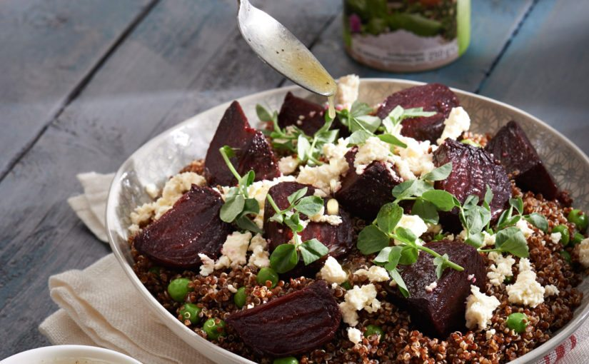 Red Quinoa and Roasted Beetroot Salad