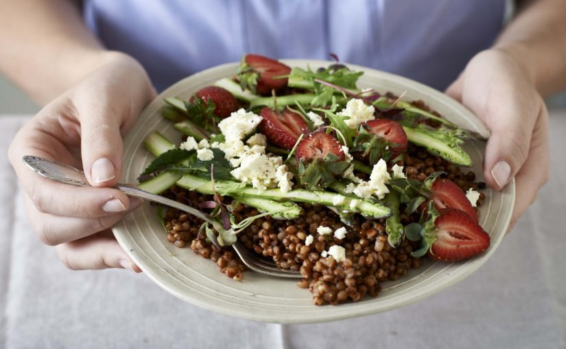 Sorghum and Strawberry Summer Salad