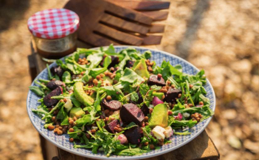 Roasted Beetroot, Avocado and Lentil Salad